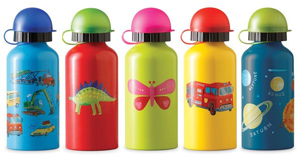 Go to school in style with these 13.5 oz stainless steal drinking bottles. Lots of designs to choose from! #Earthfriendly  #BPAfree  #Kidsafe #crocodilecreek #waterbottle