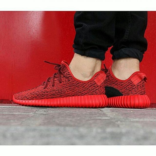 All Red Yeezy 350 Boosts