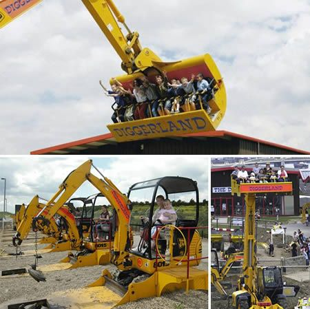 Diggerland (England): a construction themed park