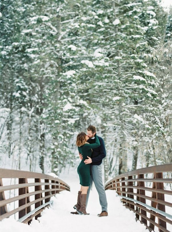 A Snowy Engagement Session That'll Warm Your Heart