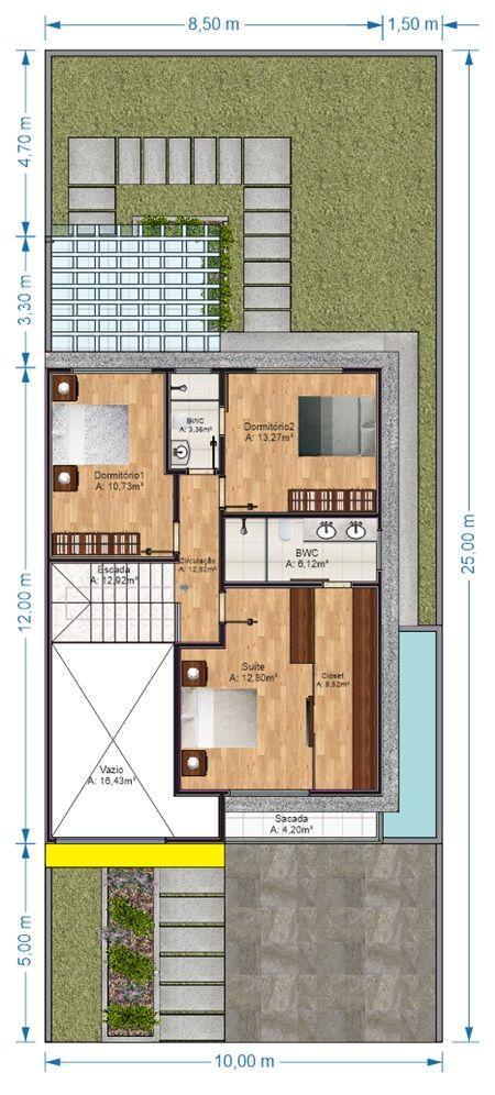 A planta do projeto Jaboatão dos Guararapes é um projeto de casa com 2 pavimentos no estilo moderno, desenvolvido para terrenos com dimensões mínimas de 10m x 25m. É uma bela opção para quem quer uma casa com 3 quartos sendo 1 suíte master. O destaque está no dormitório 2 que também pode se transformar …