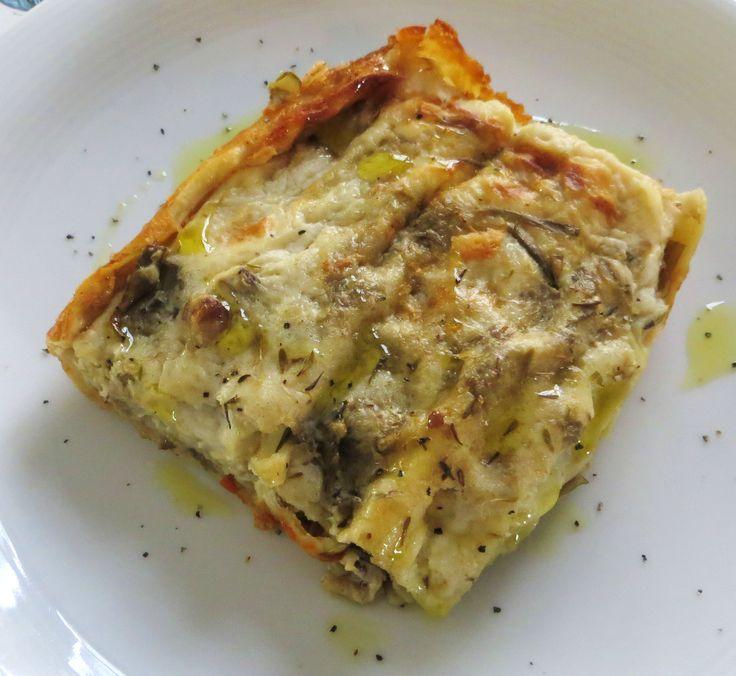 Lasagne con carciofi e salsiccia