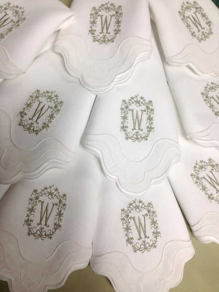 Http://bestmonogram.com/table Linens/napkins/matouk