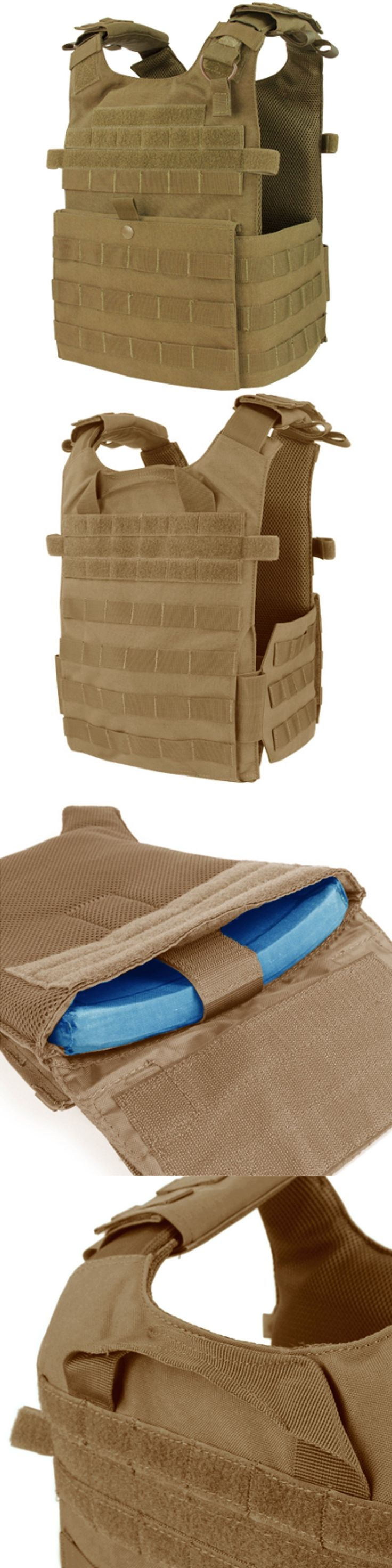 Chest Rigs and Tactical Vests 177891: Condor 201039 Coyote Molle Tactical Gunner Lightweight Esapi Plate Carrier Vest -> BUY IT NOW ONLY: $67.25 on eBay!