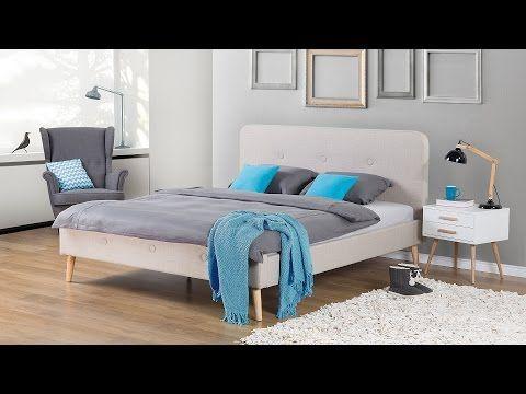 Bett Beige – Doppelbett 180x200 cm – Ehebett – Polsterbett – RENNES