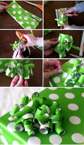 Use the remaining part of your gift wrapper as your DIY gift ribbon. <3 lovely!