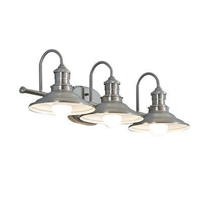 Photo Gallery Website Shop allen roth Hainsbrook Antique Pewter Standard Bathroom Vanity Light at Lowe us Canada Find our selection of bathroom vanity lighting at the lowest