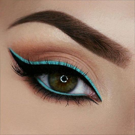 ombre color eyeliner - #ezyshine #makeup tips