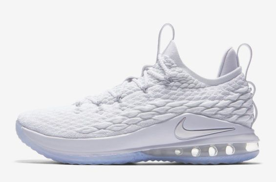 new products ea61b 69837 Official Images Nike LeBron 15 Low White Metallic