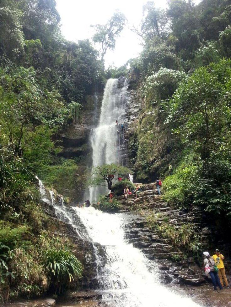 Cascada de Juan Curi Páramo Santander Colombia