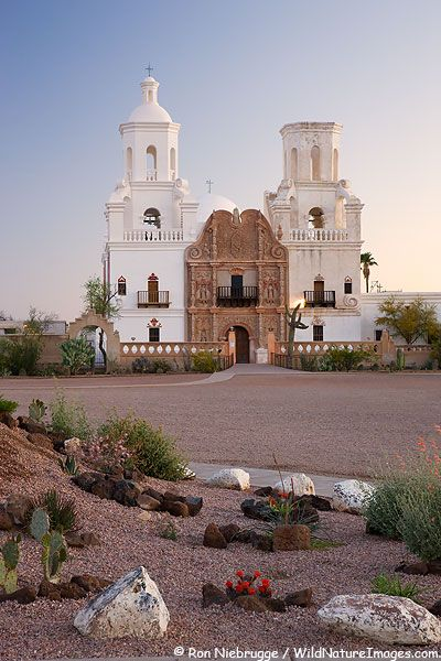Mission San Xavier del Bac, also called W hite Dove of the Desert, is a National Historic Landmark.