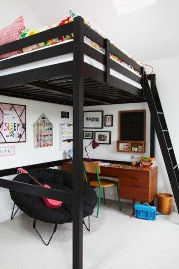 Loft bed, space saving bedroom                                                                                                                                                                                 More