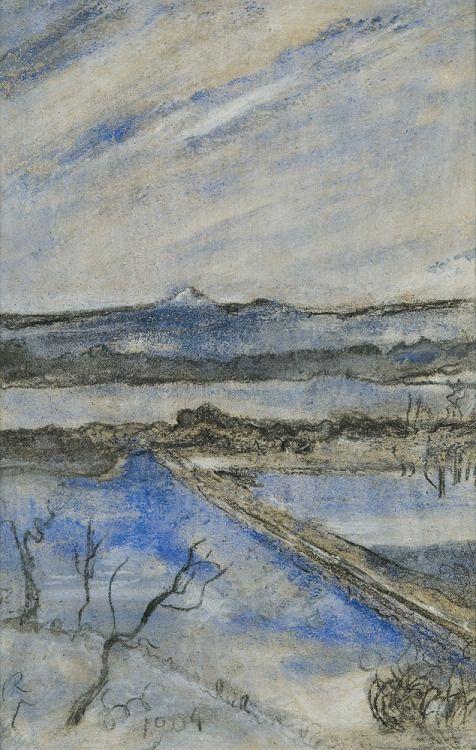 thunderstruck9:  Stanisław Wyspiański (Polish, 1869-1907), View to the Kosciuszko Hill, Cracow, 1904. Pastel on paper, 41.7 x 27.4 cm.