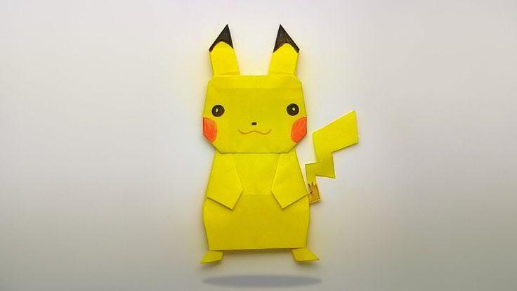 Origami pokemon pikachu/ พับกระดาษเป็นปิกาจูน่ารัก