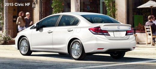 2015 Honda Civic HF White
