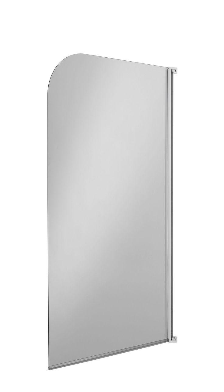 B q bathroom scales - B Q Semi Framed Bath Screen W 750mm