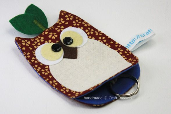 Sewing Owl Key Chain Holder Complete