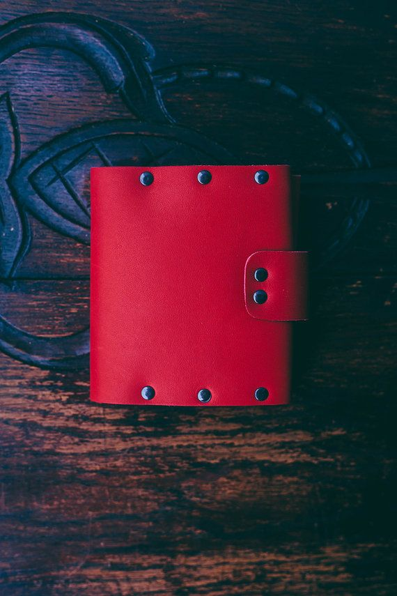 Red wallet. Coins wallet. Leather wallet