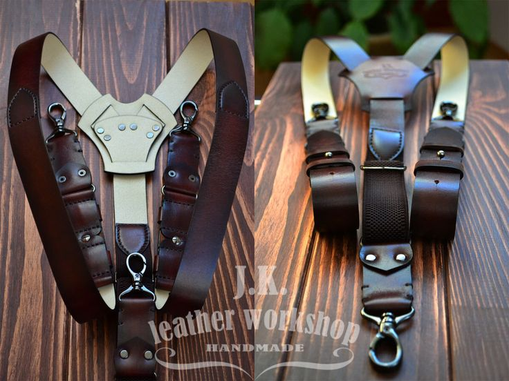 Men's Leather suspenders Brown suspenders Brown leather suspenders Suspenders men's Wedding suspenders braces wedding gift Valentine's Day by JKLeatherWorkshop on Etsy https://www.etsy.com/listing/485707669/mens-leather-suspenders-brown-suspenders