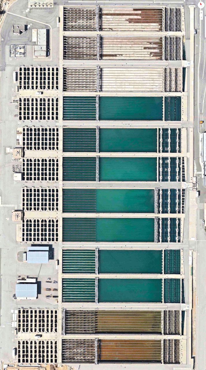 joseph jensen water treatment plant - california - photo apple maps + digital globe + daily overview - 2014