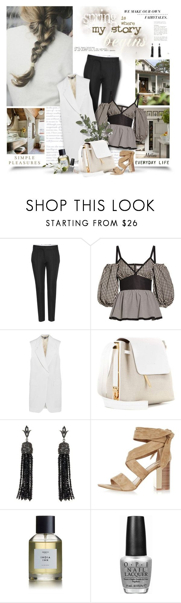 """""""Spring Is Where My Story Begins"""" by thewondersoffashion ❤ liked on Polyvore featuring Victoria Beckham, Isa Arfen, STELLA McCARTNEY, Sophie Hulme, ADORNIA, River Island, Heretic Parfum, OPI, Topshop and RiverIsland"""
