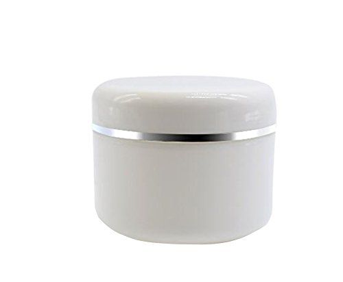White Plastic Jar with Dome Lid 8 Oz (250g) Refillable Make-up Cosmetic Jars Empty Face Cream Lip Balm Lotion Storage Container Pot Case (Pack of 6) #White #Plastic #with #Dome #Refillable #Make #Cosmetic #Jars #Empty #Face #Cream #Balm #Lotion #Storage #Container #Case #(Pack