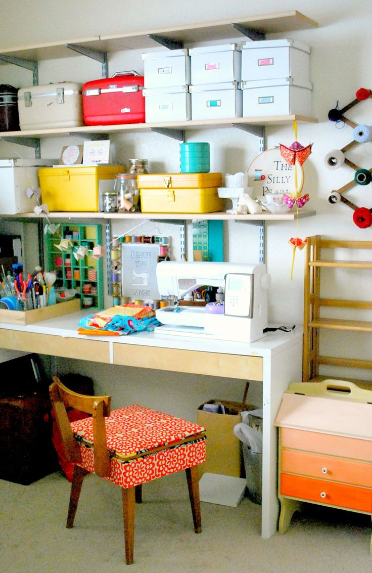 The-Silly-Pearl-Craft-Room-Love the idea for the crochet thread on the wall.