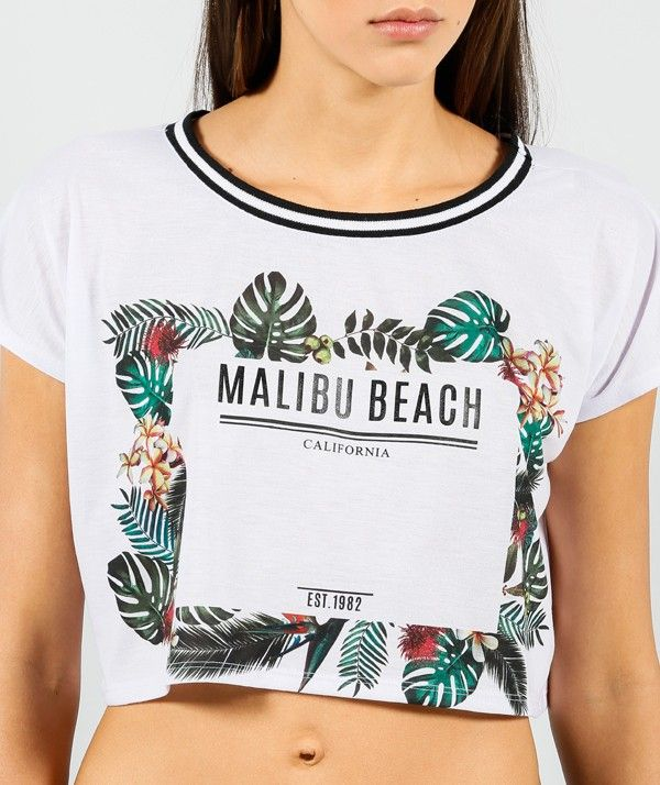 TOP BLANCO FLORES - Tops - Mujer