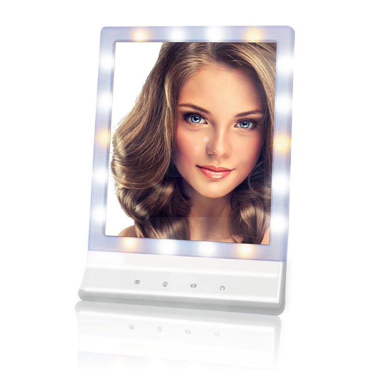Makeup Mirror with Lights Plug in and Wall Mount - Touch Control Multiple Illumination Settings Cosmetic Mirror, Large Screen Beauty Mirror with 18 LED