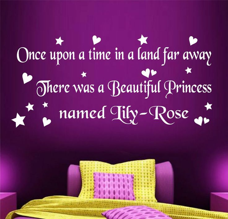 Details About GIRLS CHILDRENS BEDROOM WALL ART STICKER
