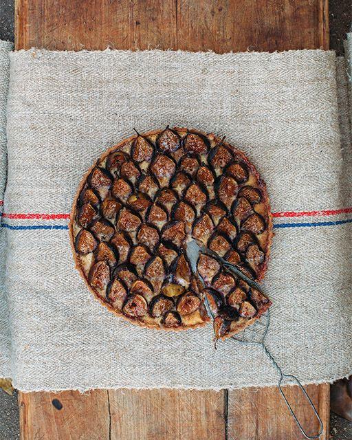 Almond Custard Tart Food, Custard Figs, Tarts Recipe, Almonds Custard ...