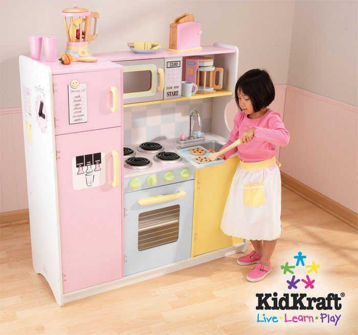 cuisine en bois pour enfant pastel en bois 107x41x109cm sur cuisini re pour. Black Bedroom Furniture Sets. Home Design Ideas