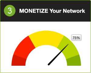 3 MONETIZE your network (75%)