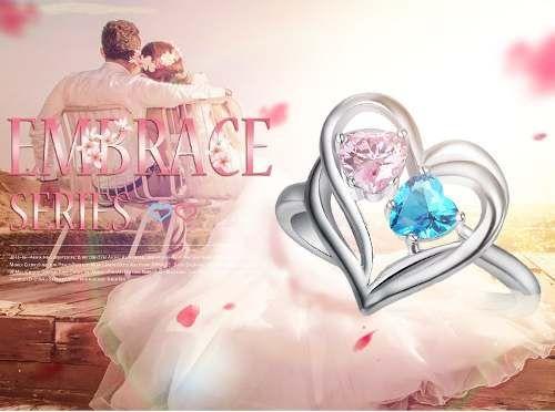 Anel Lindo Moda Topázio Rosa & Azul 18 K Banhado A Ouro Branco Prateado 18K Material: Zirconia Cúbica --------------------------- OCASIÃO: Anéis para mulheres, esposas, casamento, para namoradas, irmãs... Acabamento finíssimo! Estilo: Romântico