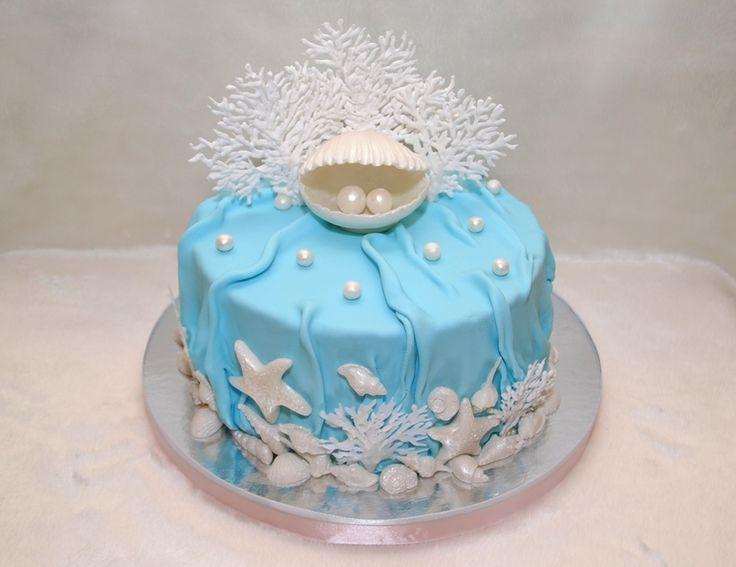 торт с жемчужинками