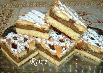 Rozi Erdélyi konyhája: Diós rácsos sütemény