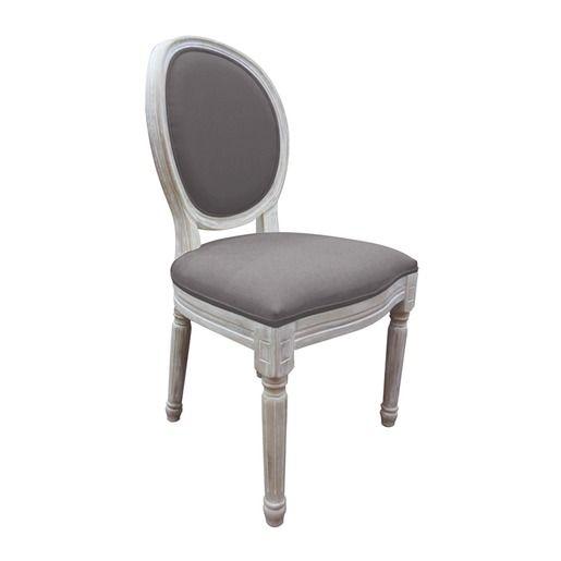 Chaise Médaillon - 50 x 56 x H 96 cm - gris