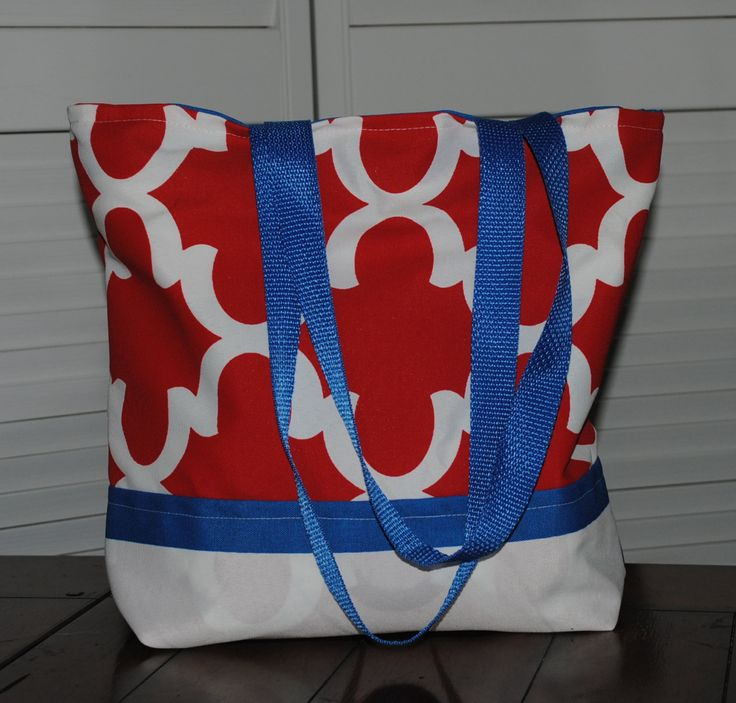 Versatile tote bag, large tote bag, book bag, purse, reversible tote bag, Red, white and blue Tote bag, Original tote bag, extra large tote by…