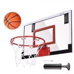 "Indoor Mini Basketball Hoop 18x12' Over-The-Door/Wall Indoor w/ Pump 5.5"" Ball Set Sport Exercise"
