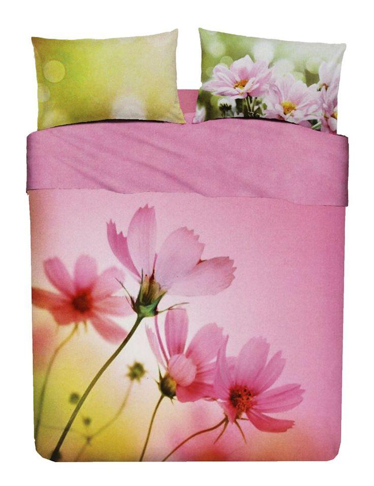 Coordinato sacco copripiumino e federe pink spring in puro cotone per letto matrimoniale i importante stampa digitale Marchio: Bassetti