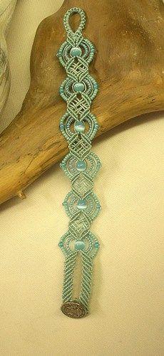 Micro Macrame Bracelet Turquoise                                                                                                                                                                                 Más