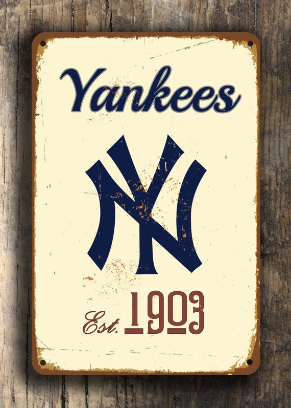 Vintage style New York YANKEES Sign New York by FanZoneSigns