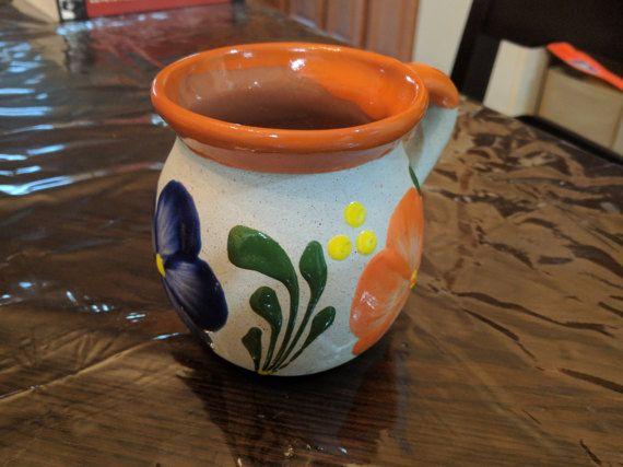 Jarrito de Barro Decorado Decorated Clay Mug Made in by JazzGifts