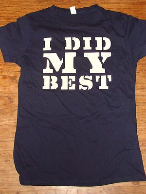 Dane Cook I DID MY Best 2010 Concert Tour TEE Shirt Size Large Junior Navy Blue   eBay