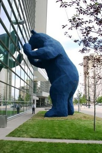 40 feet high bear at the  Colorado Convention Center