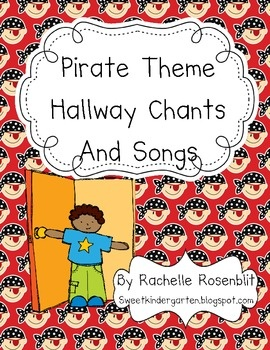 Pirate Theme Hallway Chants and Songs Book