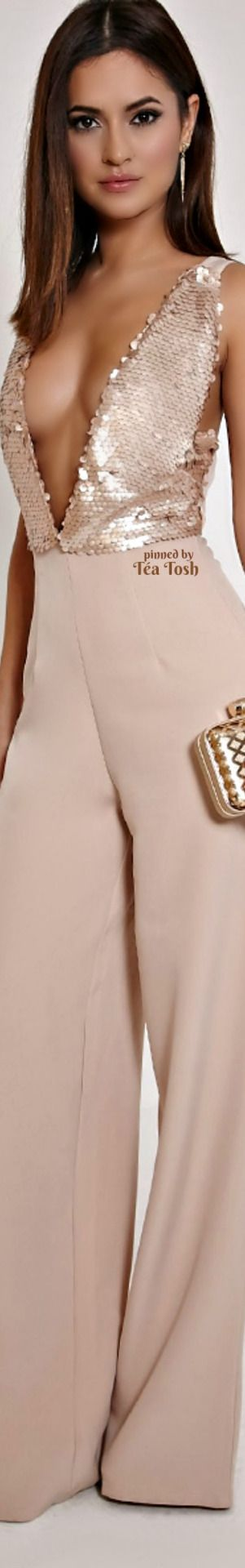 ❇Téa Tosh❇ Rose Gold Sequin Jumpsuit