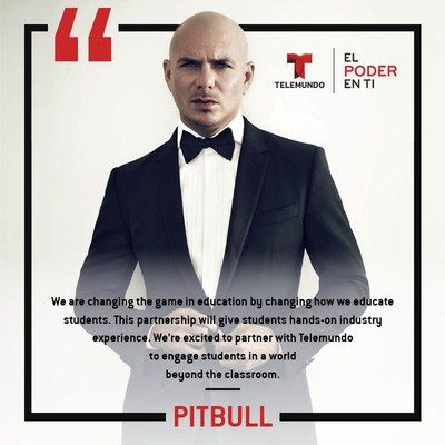 NBCUniversal Telemundo Enterprises Announces Telemundo Academy And Partners With Award-Winning Pitbull To Empower And Train The Next Generation Of Media Leaders              MIAMI March 7 2018 /PRNewswire/ NBCUniversal Telemundo Enterprises today announced the launch of Telemundo Academy a first-ever multimedia educational institution to empower and train the next generation of media leaders. The academys first partners will include internationally renowned singer actor and record producer…