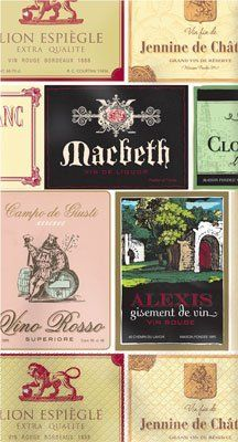 Wine Labels Paper Guest Towels by Shindigz. $16.25