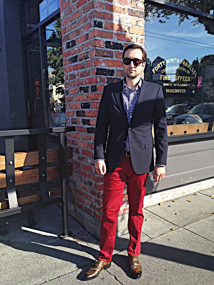 Navy blazer brooks brothers gingham shirt jcrew red for Brooks brothers custom shirt